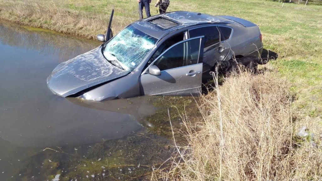 Suspected undocumented immigrants bail out of car after crashing into pond