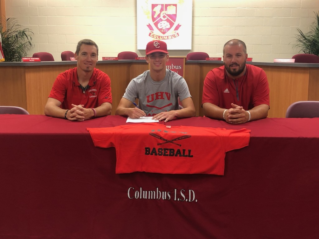 UHV Baseball Signs Columbus H.S. Star