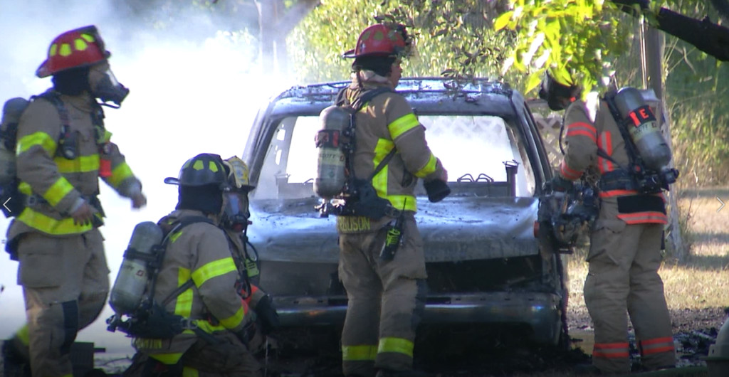 VFD responds to vehicle fire on Hill Road