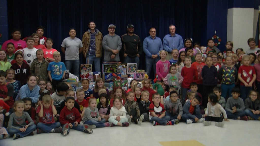 Honor 361, O-FISH-all team with Nursery ISD to collect toy donations