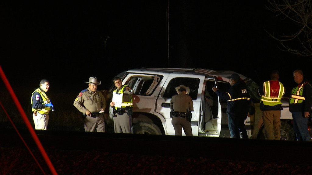 One Hurt In Train-SUV Accident