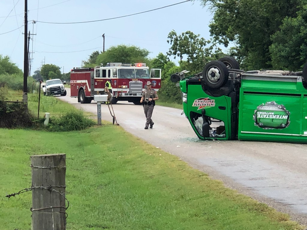 One taken to the hospital after a vehicle rollover