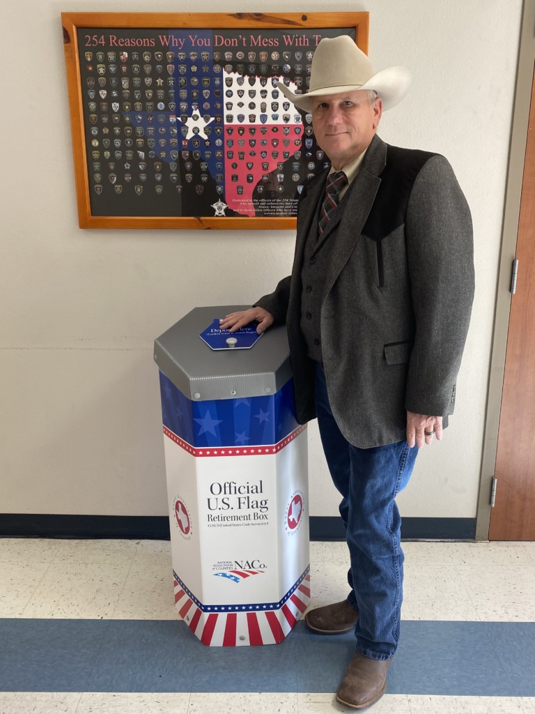DeWitt County provides new option for proper disposal of worn U.S. flags