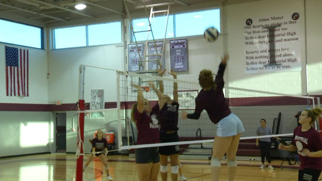 VC All-Star Volleyball Practice