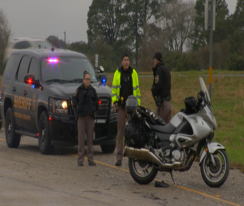 Motorcyclist okay after losing control on Highway 59