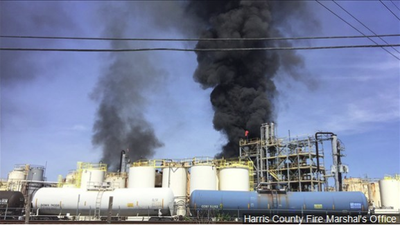 One reported dead and two injured in Texas chemical plant fire