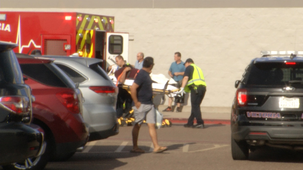 Motorcyclist hospitalized after wreck at Walmart