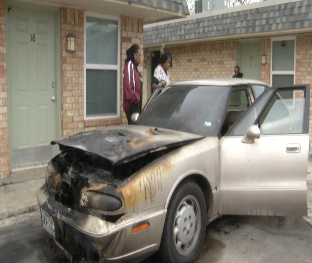 Victoria resident okay after car bursts into flames