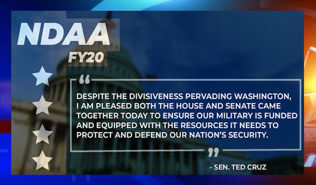 How the 2020 National Defense Authorization Act will impact Texas