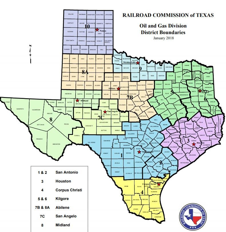 Texas drilling permits and completions statistics for December 2018