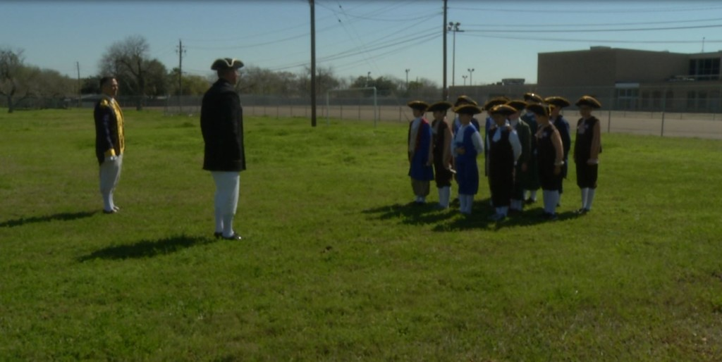 OLV students learn, celebrate 18th century America during Patriot's Day