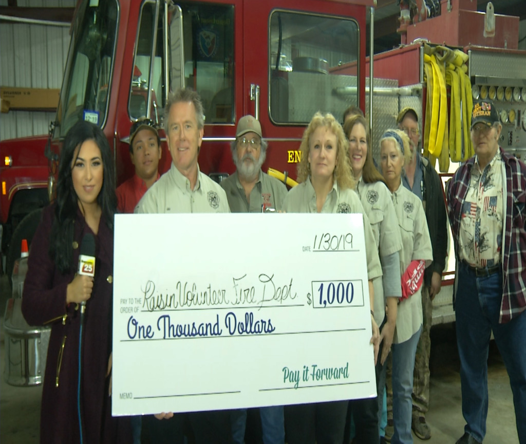Raisin Vol. Fire Dept. is January's Pay It Forward winners!