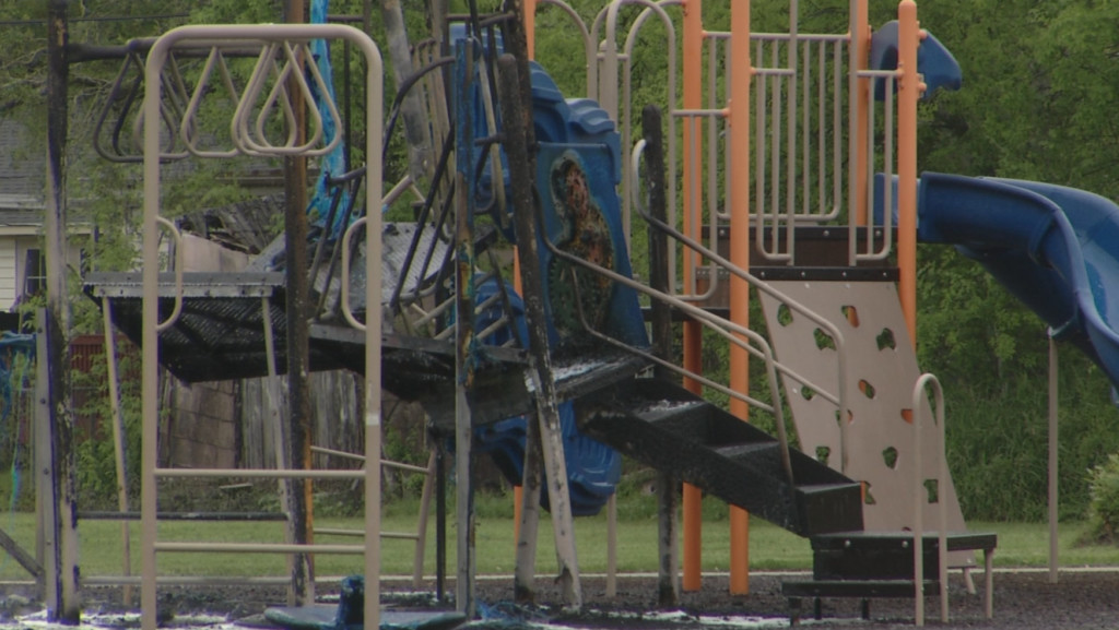 Rose Drive playground fire under investigation