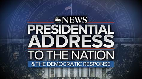 ABC News announces coverage of President Trump's prime-time address and Democratic response