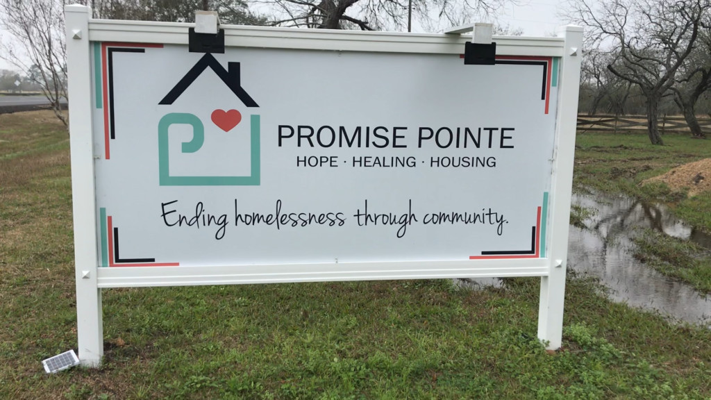 Promise Point Giving to the Homless