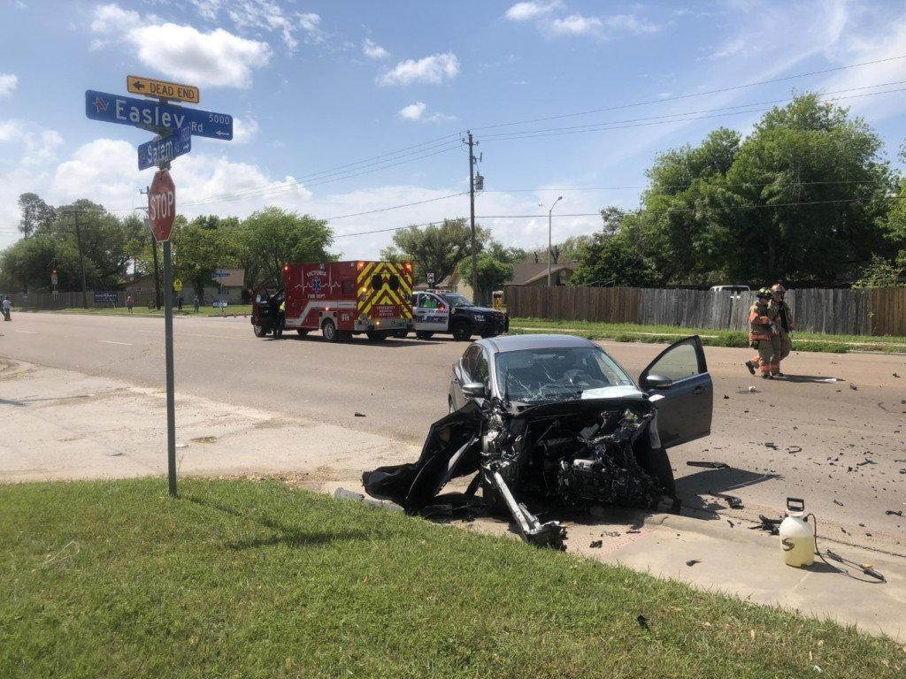 One taken to hospital after car crash on Salem Road