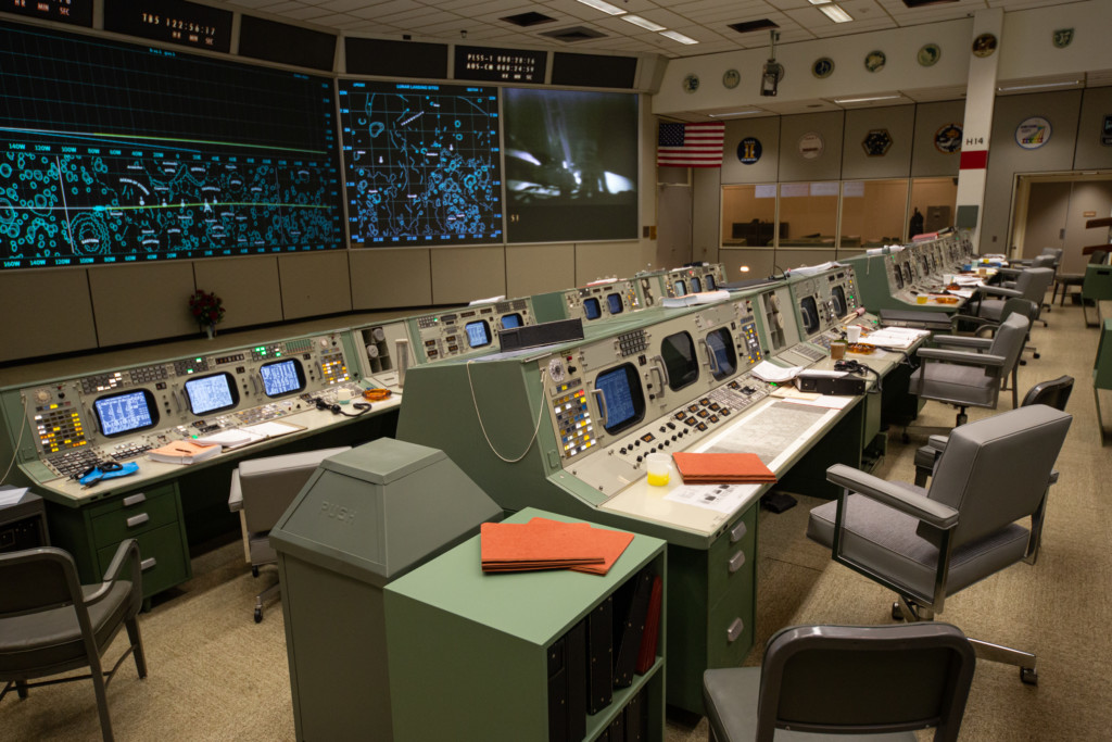 Space Center Houston welcomes you to the newly restored Apollo Mission Control Center