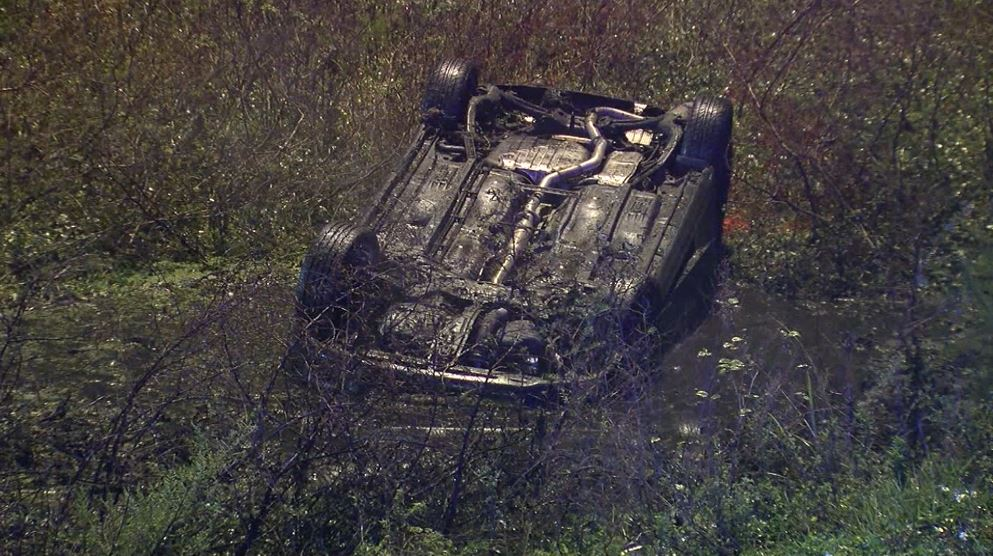 New Year's rescue: Deputies pull woman from submerged car
