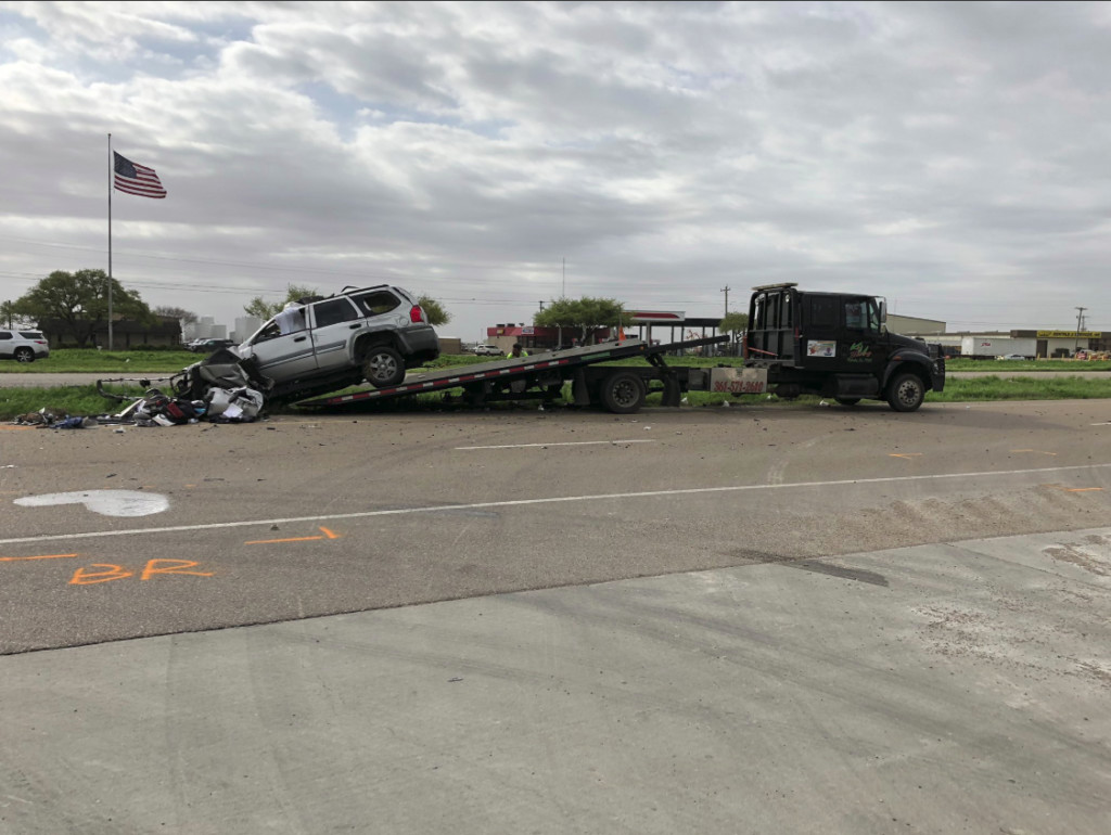 One injured in two vehicle accident on US 59 frontage road