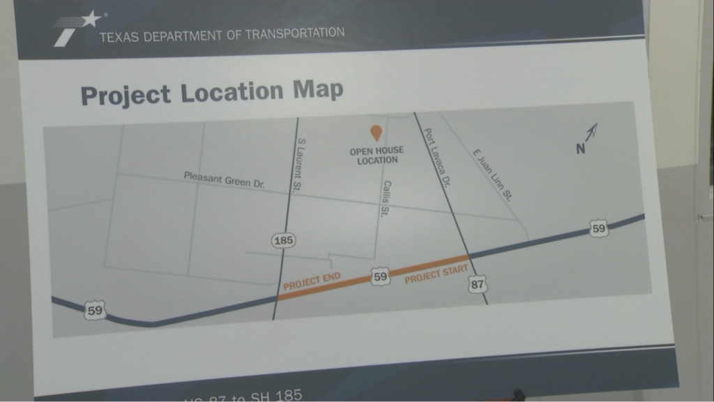 TxDOT Yoakum held open house about proposed US 59 frontage road project