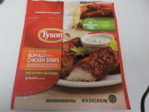 Tyson Foods recalls 69,000 pounds of chicken strips due to possible metal pieces