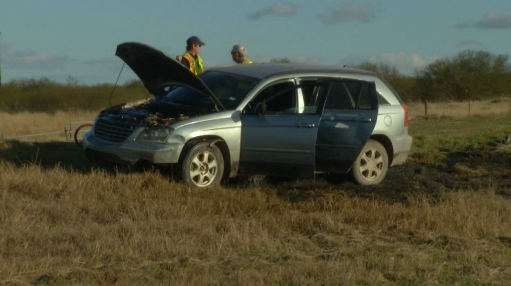 Family okay after car fire on US 77 near Old Refugio Road