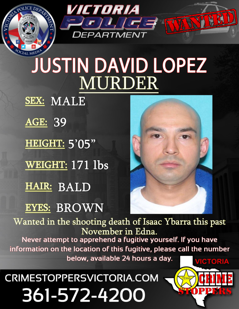 Crime Stoppers searching for man wanted in the murder of Isaac Ybarra in Edna