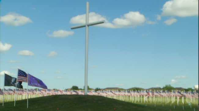 2,000 flags posted in Warriors Field of Honor