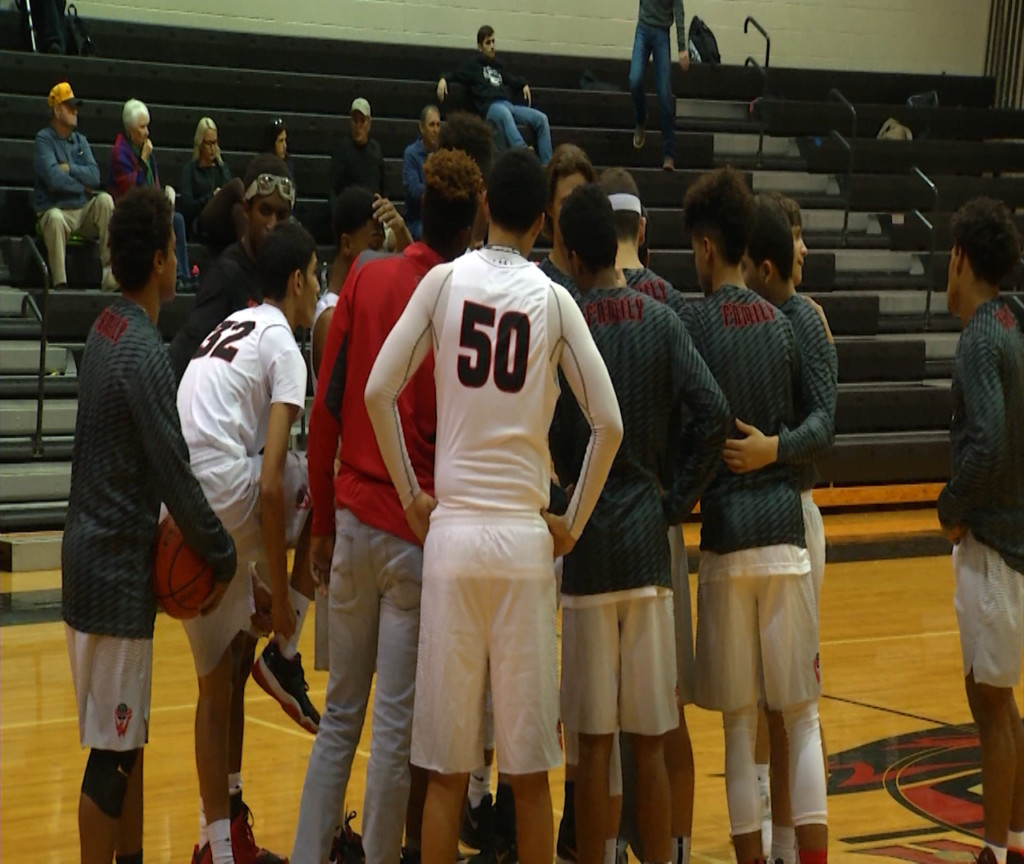 West Boys Basketball Loses Home District Game