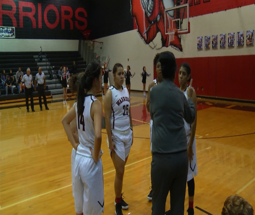 West Girls Basketball Gets First District Win