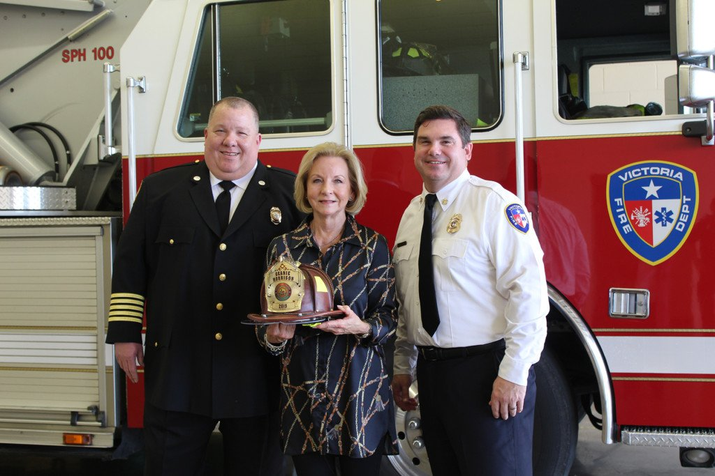 State Representative Geanie Morrison recognized as an Honorary Fire Chief
