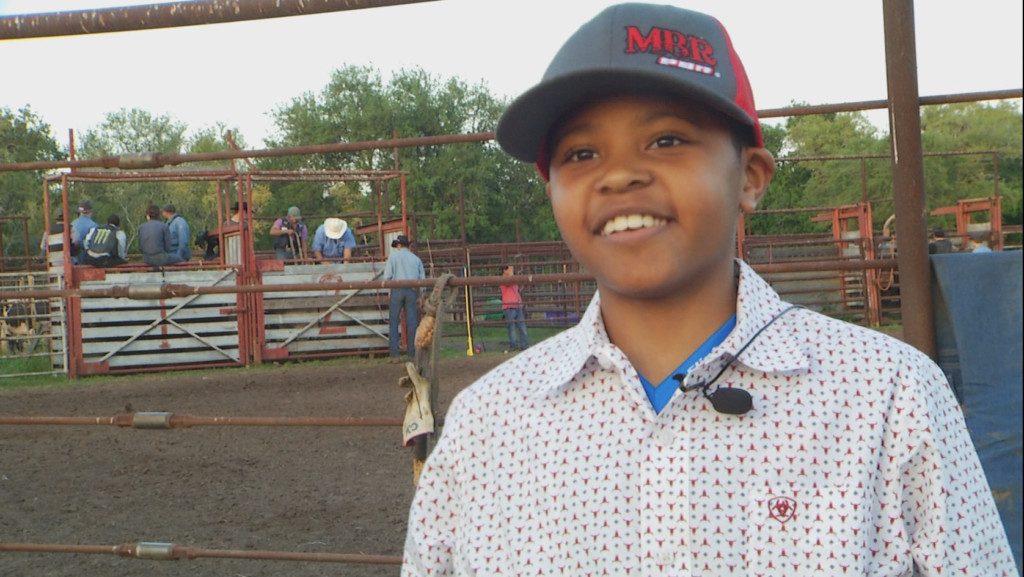 Young self-taught bull rider champion of South Texas