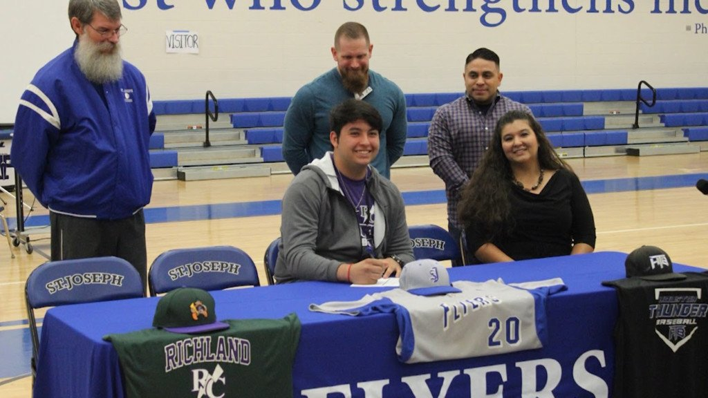 STJ Baseball Player Signs With College