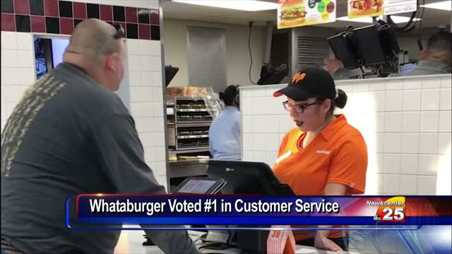 Whataburger ranked #3 in customer service