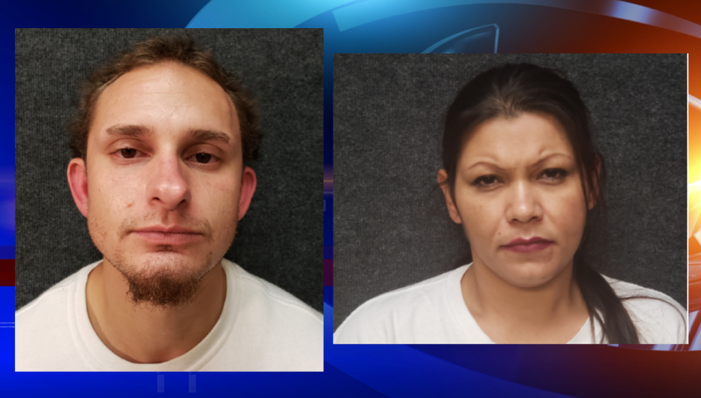 Charles Kueken, age 30, and Regina Diaz, age 34 arrested.