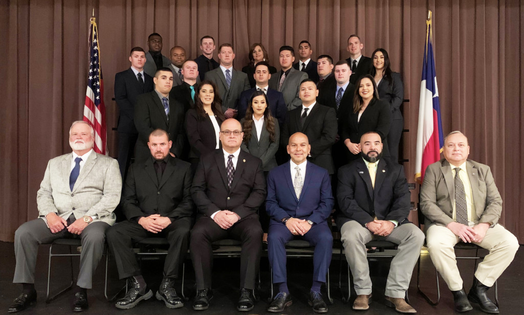 Victoria College's Fall 2019 graduates of the Law Enforcement Academy's 95th Basic Peace Officer Certification Class were honored on Dec. 11