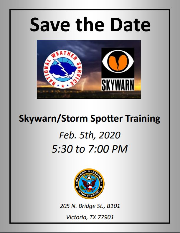 Skywarn, Storm Spotter training by Victoria OEM