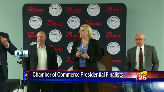Three finalists remain for the Chamber of Commerce president role