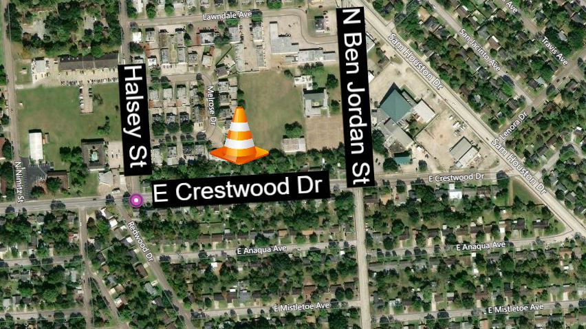 Crestwood Drive to close between Halsey and Ben Jordan Tuesday Feb 4th- Feb7th.