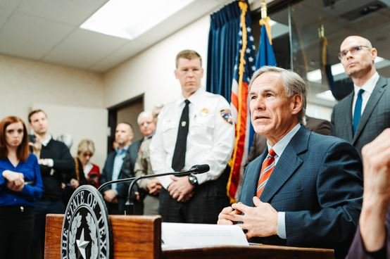 Greg Abbott Briefed On Coronavirus 1