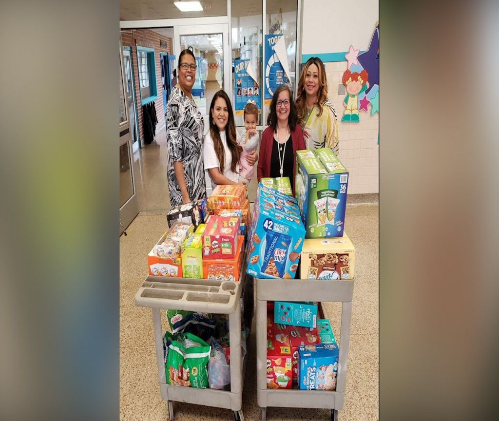 A local organization is giving snacks to schools for children who can't afford them