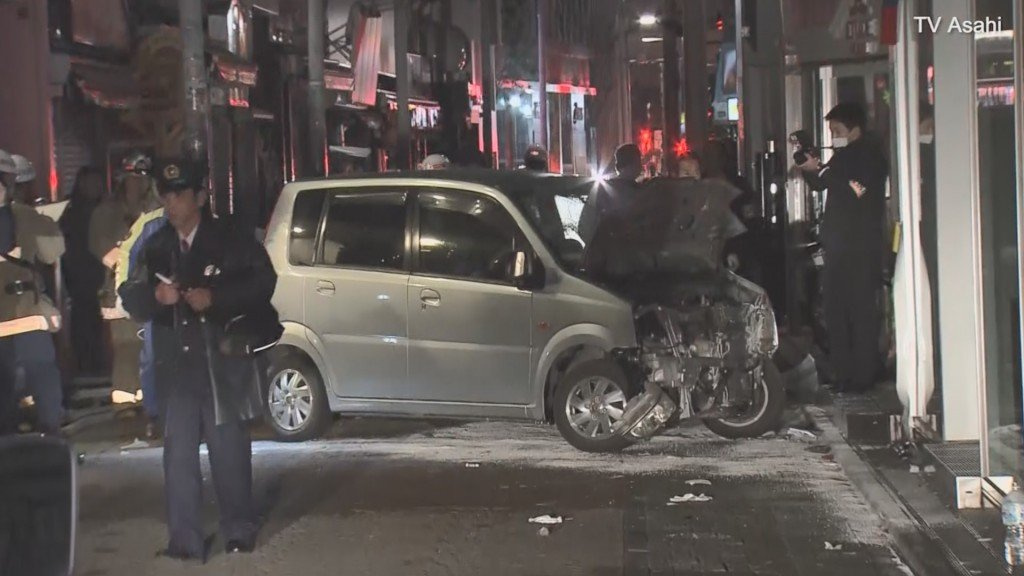 Driver hits New Year's revelers in Tokyo's Harajuku district