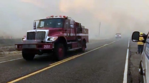 Fast-growing California wildfire forces evacuations