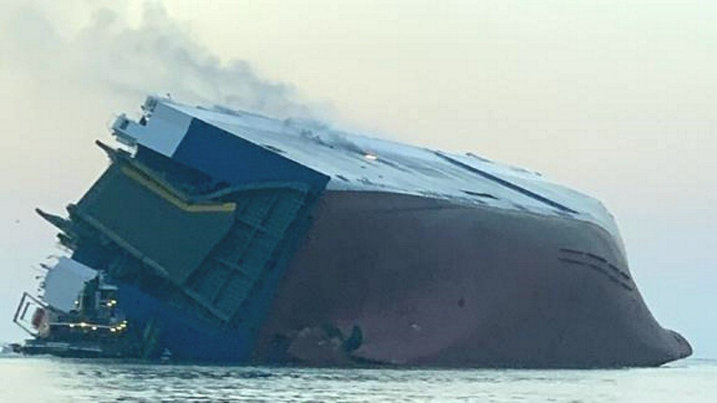 Rescuers faced daunting task to find crew aboard capsized cargo ship