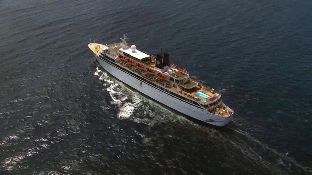 91% of people on Scientology cruise ship immune from measles and 'free to move'