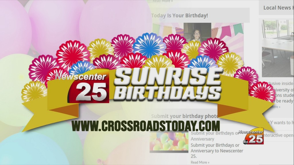 Sunrise Birthdays (3/25)