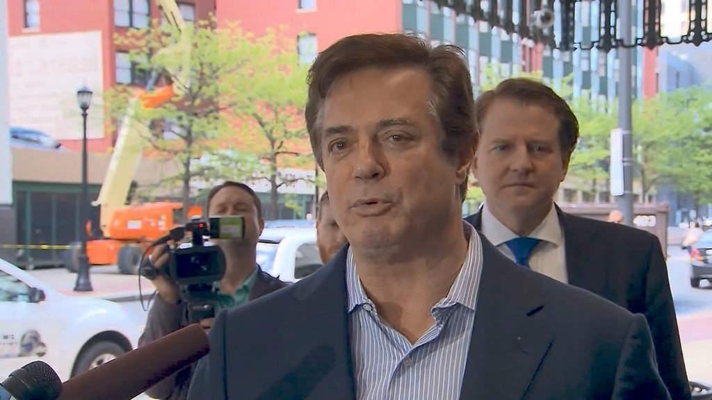 Trump says he 'feels badly' for Manafort