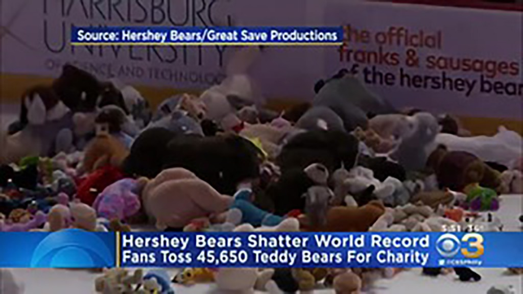 Pa. hockey team pelted by more than 45,000 stuffed animals