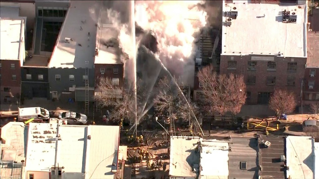 Possible gas explosion levels 3 Philadelphia row houses; search for missing to start