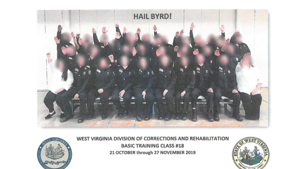 West Virginia corrections officer class gives Nazi salute in photo